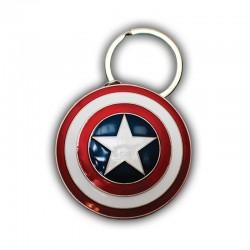 Imagén: Llavero Marvel Escudo Capitán América (Metálico)