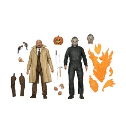 Pack 2 Figuras Halloween II Ultimate Michael Myers y Dr. Loomis Neca