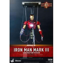 Figura Iron Man Mark III Construction Version Hot Toys Escala 1/6