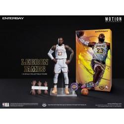 Figura LeBron James Lakers Escala 1/9 NBA Collection Motion Masterpiece Enterbay