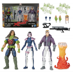 Pack 3 Figuras X-Force Domino, Rictor y Cannonball Marvel Legends Hasbro