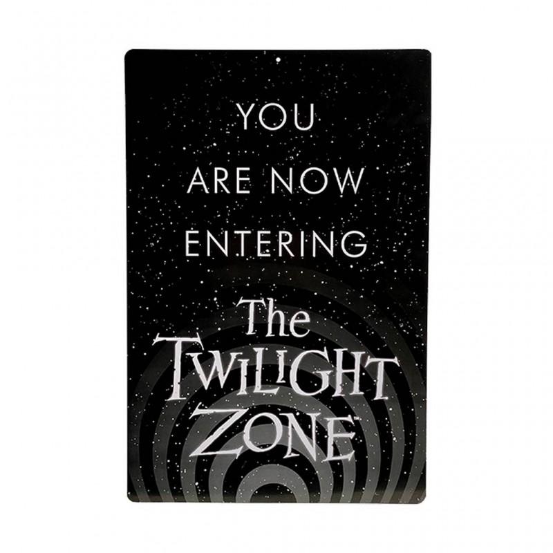 Letrero Metálico Now You Are Entering The Twilight Zone. La Dimensión Desconocida