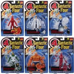 Pack 6 Figuras Los 4 Fantásticos Retro Marvel Legends Hasbro