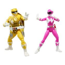 Pack 2 Figuras Power Rangers x TMNT Lightning Collection Figuras 2022 Morphed April O´Neil & Michelangelo HAsbro