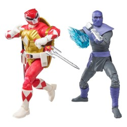 Pack 2 Figuras Power Rangers x TMNT Lightning Collection Figuras 2022 Foot Soldier Tommy & Morphed Raphael Hasbro