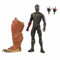 Figura Spider-Man Black And Gold Suit Marvel Legends Wave 13 (Marvel's Armadillo BAF) Hasbro