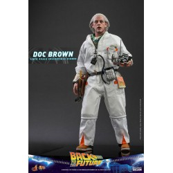 Figura Doc Brown Regreso Al Futuro Hot Toys Movie Masterpiece Escala 1/6