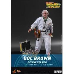 Figura Doc Brown Regreso Al Futuro Hot Toys Movie Masterpiece Escala 1/6 Deluxe