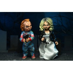 Pack 2 Figuras Chucky Y Tiffany La Novia De Chucky NECA