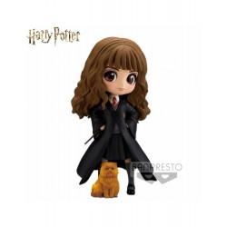Figura Harry Potter Q posket Hermione Granger with Crookshanks Banpresto