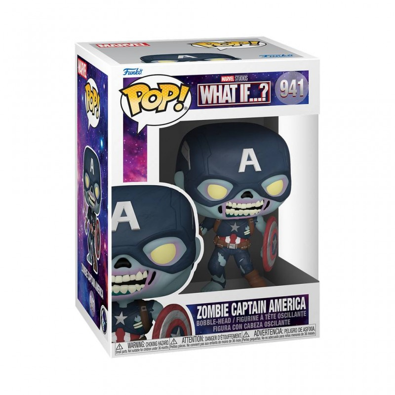 Figura Zombie Capitán América What If Pop Marvel Funko 941