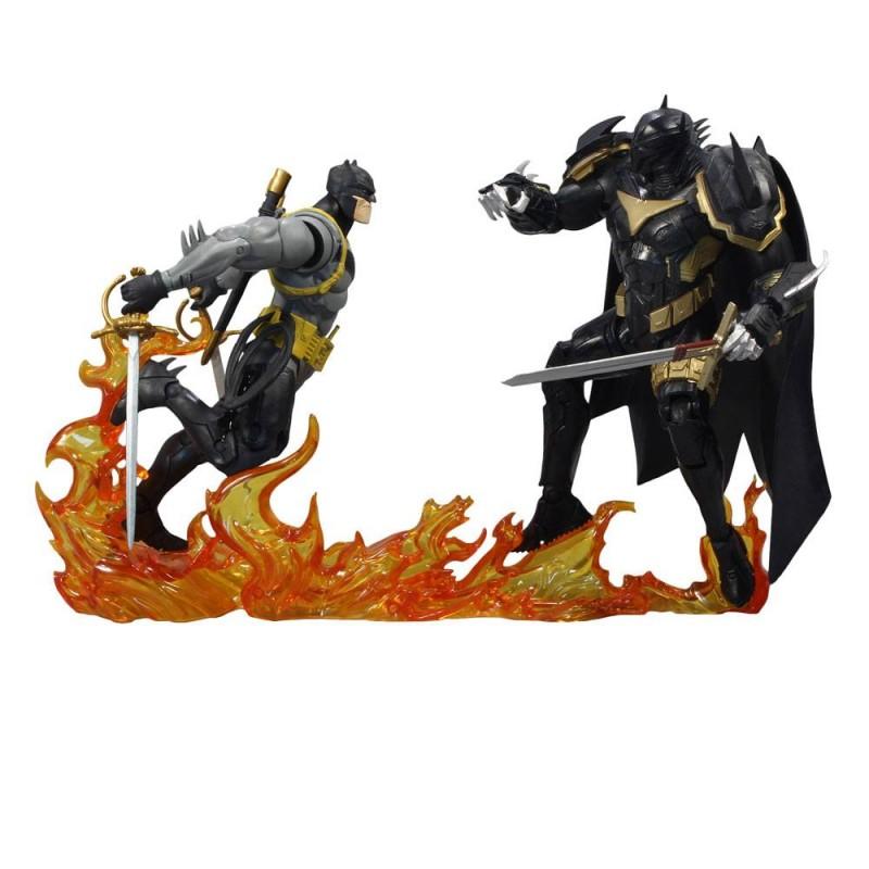 Pack 2 Figuras Collector Multipack Batman vs Azrael Batman Armor McFarlane Toys