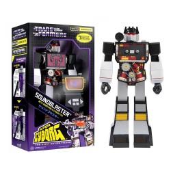 Figura Super Cyborg Soundwave (Soundblaster) 28 Cm. Transformers ReAction Super7