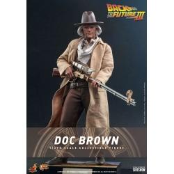 Figura Doc Brown  Regreso Al Futuro III Hot Toys Hot Toys Escala 1/6