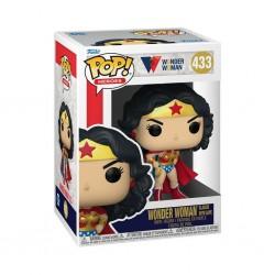 Imagén: Figura Wonder Woman con Capa Clásica 80 Aniversario Pop Funko 433