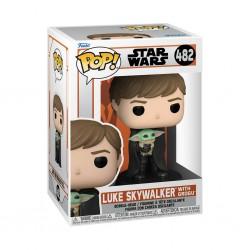 Figura Luke Skywalker Con Grogu Star Wars The Mandalorian Pop Funko 482