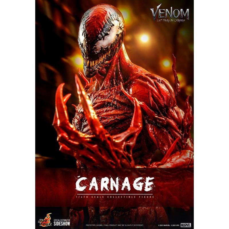Figura Carnage Deluxe Venom Habrá Matanza Movie Masterpiece Hot Toys Escala 1/6