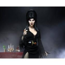 Figura Elvira  Mistress Of The Dark Con Ropa De Tela Neca