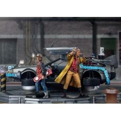 Estatua Regreso al Futuro 2 Set Completo DeLorean Deluxe Version Escala 1:10