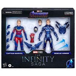 Pack 2 Figuras Capitana Marvel Y Rescue Armor Avengers Endgame Marvel Legends Hasbro