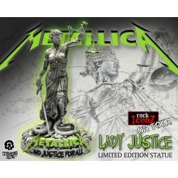 Estatua Metallica Lady Justice Rock Iconz Tour And Justice For All Knucklebonz