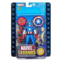 Figura Captain America 20 Aniversario Marvel Legends Hasbro