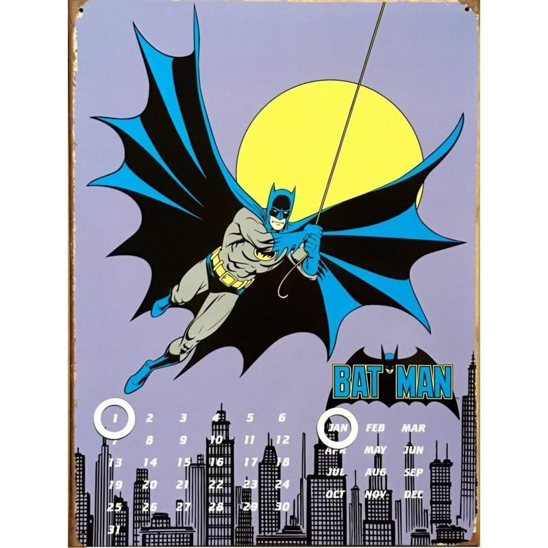 Calendario Perpetuo Metálico. Batman en Gotham