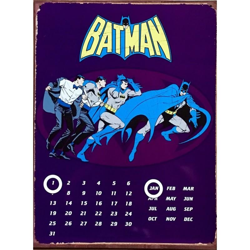 Calendario Perpetuo Metálico. Batman Bruce Wayne