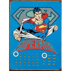 Calendario Perpetuo Metálico. Superman