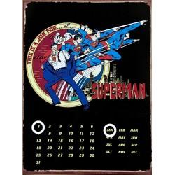 Calendario Perpetuo Metálico. Superman Clark Kent