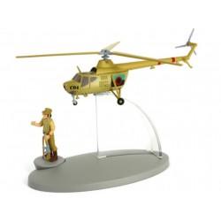 """Avión Tintín. Helicóptero de la Armada de San Theodoros en """"Tintín y los Pícaros"""""""