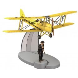 "Imagén: Avión Tintín. Biplano Amarillo en ""La Isla Negra"""