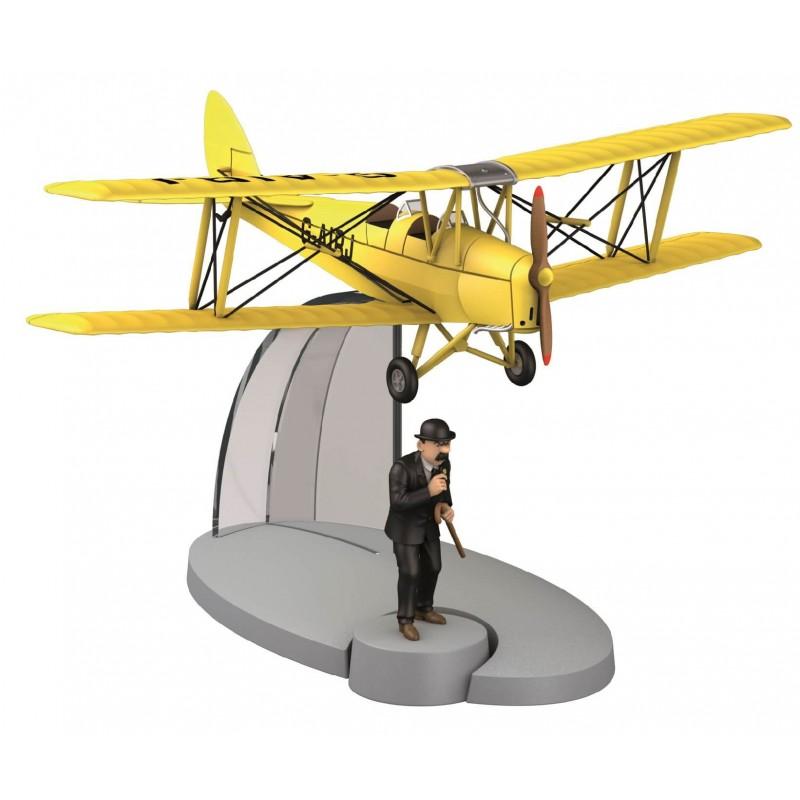 """Avión Tintín. Biplano Amarillo en """"La Isla Negra"""""""