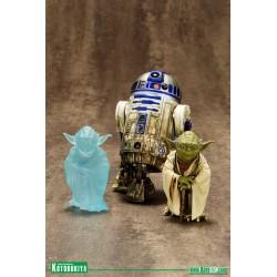 Star Wars. Figura Yoda y R2-D2 en Dagobah Artfx+ PVC Statue Kotobukiya