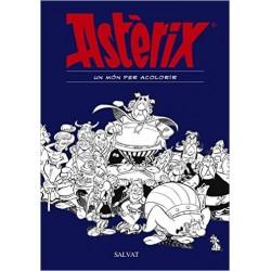 Astérix un Món per Acolorir Salvat Llibre Dibuixos Català