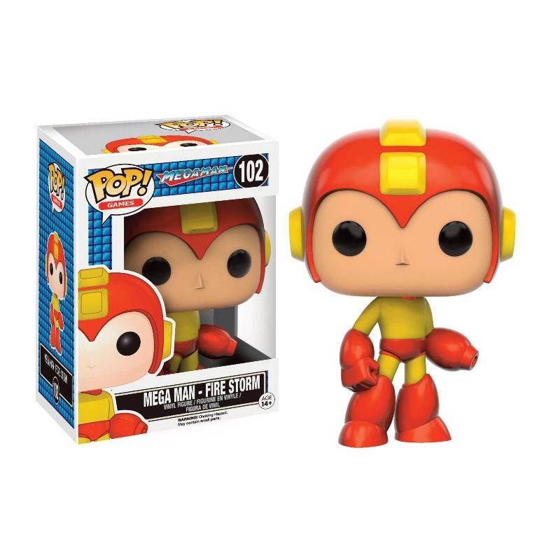 Figura Megaman Fire Storm POP Funko Edición limitada