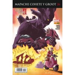 Mapache Cohete y Groot 26 Panini Comics guardianes de la galaxia