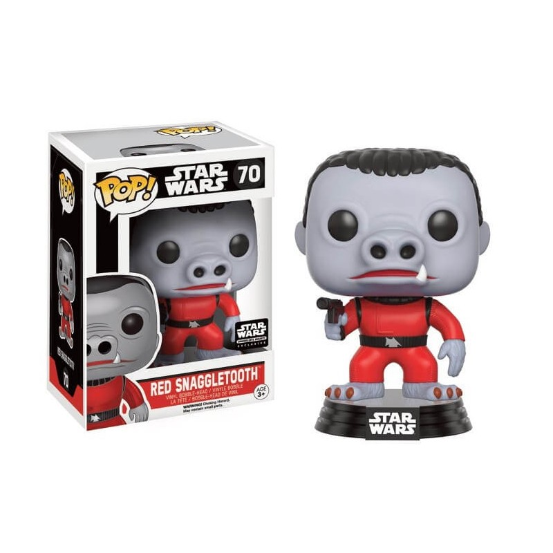Snaggletooth Rojo. Star Wars. Edición Limitada. POP Vinyl Funko