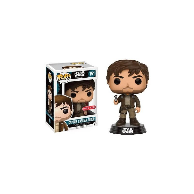 POP Funko Capitán Cassian Chaqueta Marrón Star Wars Rogue One Limited