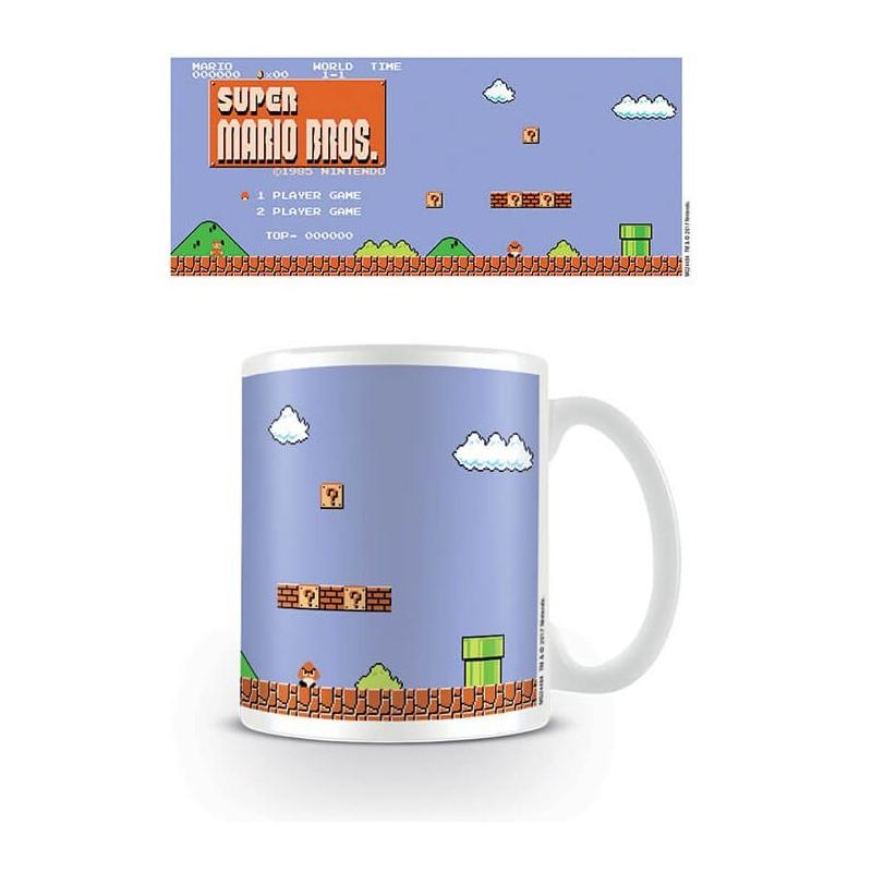Taza Super Mario Bros Pantalla de Inicio Nintendo