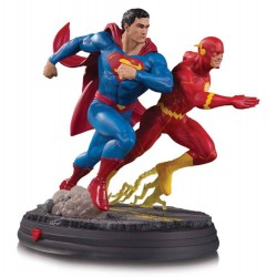 Estatua Superman Vs Flash Racing DC Gallery Comprar