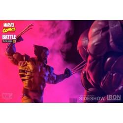Estatua Wolverine Vs. Juggernaut Lobezno Sideshow Iron Studios