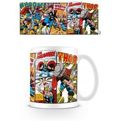 Taza Thor Viñetas Retro Marvel Comics