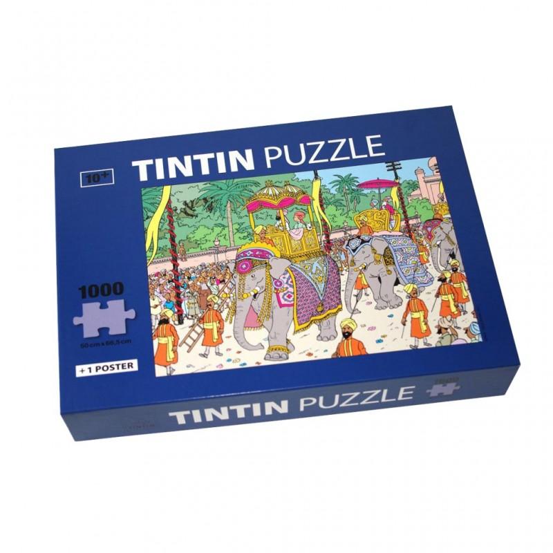 Puzzle Tintín. Modelo Paseo con Elefante