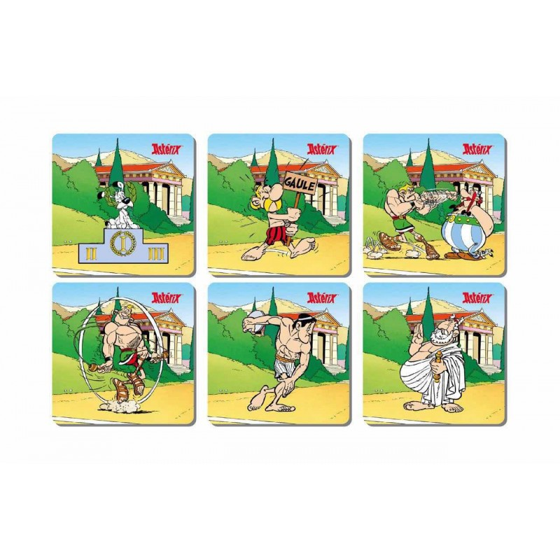 Asterix Set Posavasos Juegos Olímpicos Oficial
