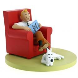 Figura Tintin Sofa Rojo
