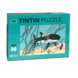 Puzzle Tintín Submarino Tiburón tesoro de rackham el rojo 500 piezas