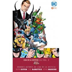 Grandes autores de la Liga de la Justicia: Keith Giffen, J.M. Dematteis y Kevin Maguire. JLI 2