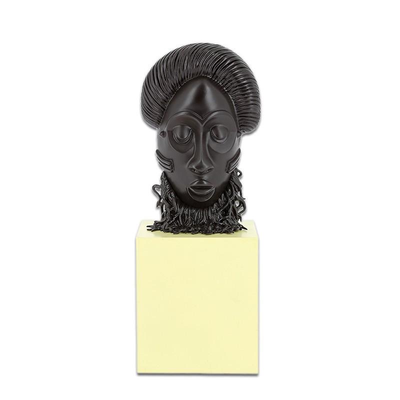 Máscara Africana Colección Museo Imaginario Figura Resina Comprar