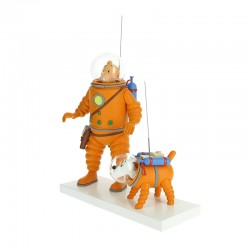 Figura Tintin Milu Luna Resina Hielo Lunar